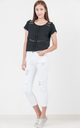 Emmaline Distressed Jeans in White