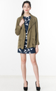 Carmen Military Jacket in Olive Green