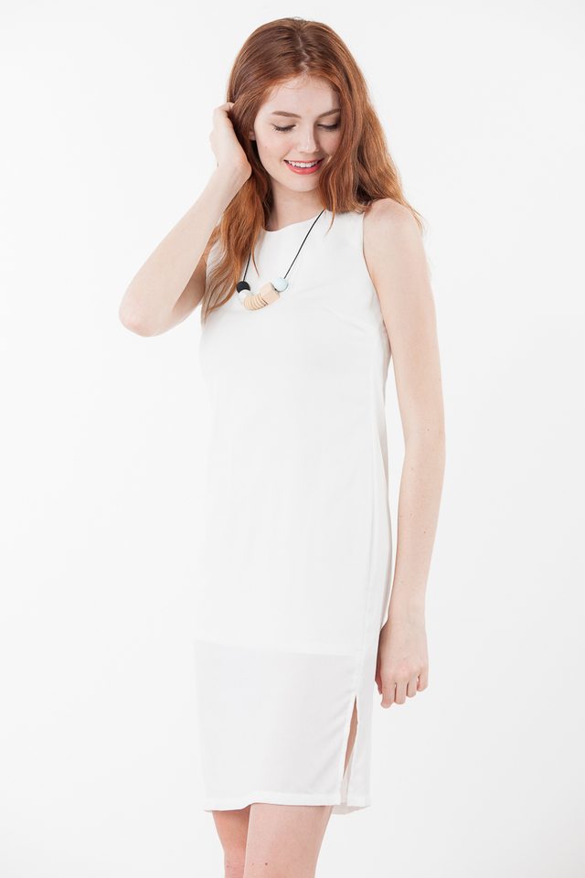 Jovana Dress in White