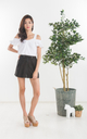 Mink Suede Skirt in Black (Size XS only)