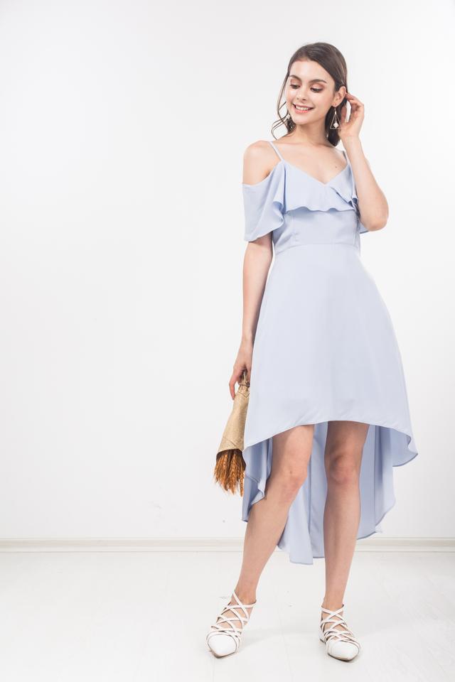 Valentine Midi Dress in Sky Blue