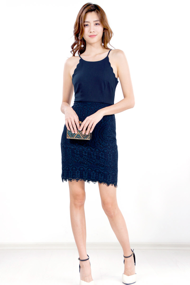 Maelie Scallop Lace Dress (Size M/L only)