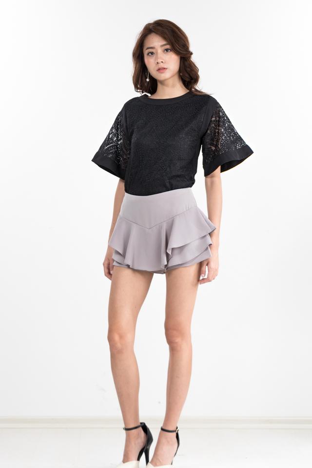 Dulce Crochet Top in Black
