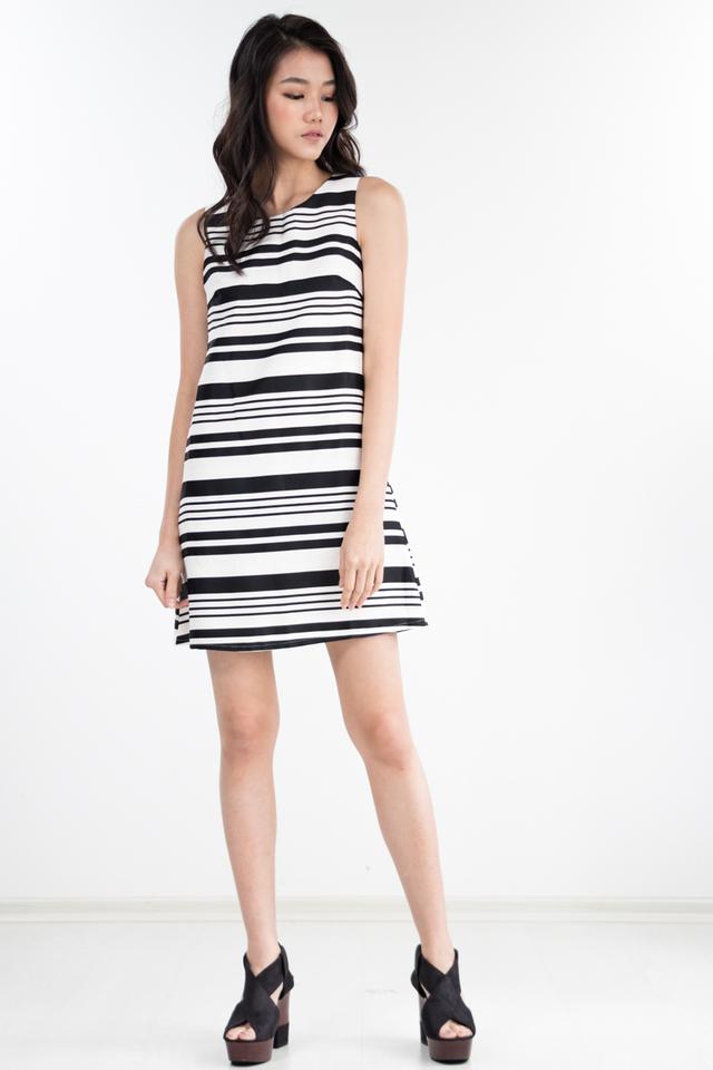 Lawrence Striped Dress in White