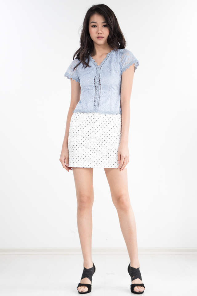 Fallone Lace Top in Periwinkle (Size XS only)
