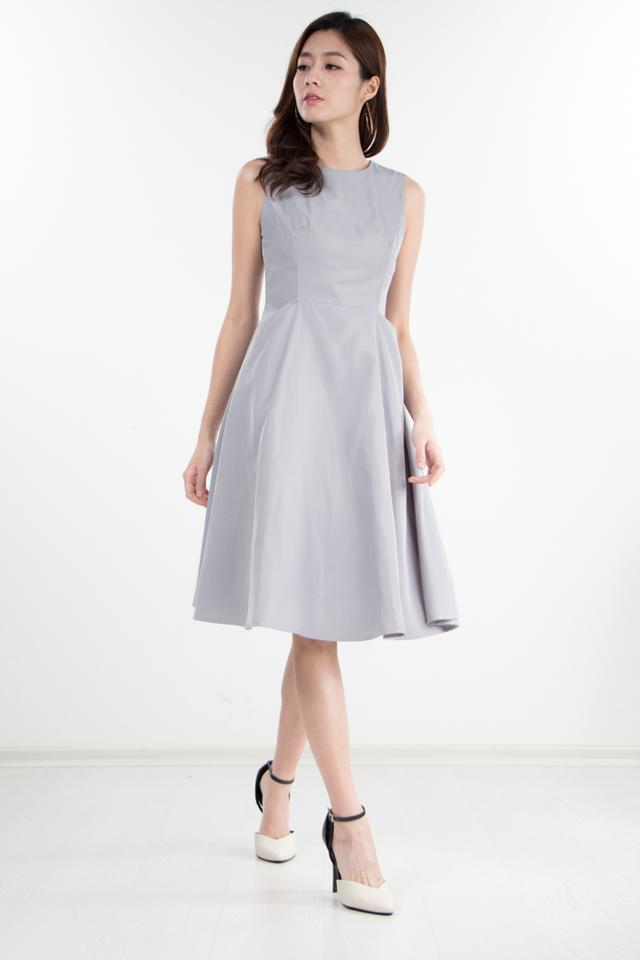 Kane Midi Dress in Grey