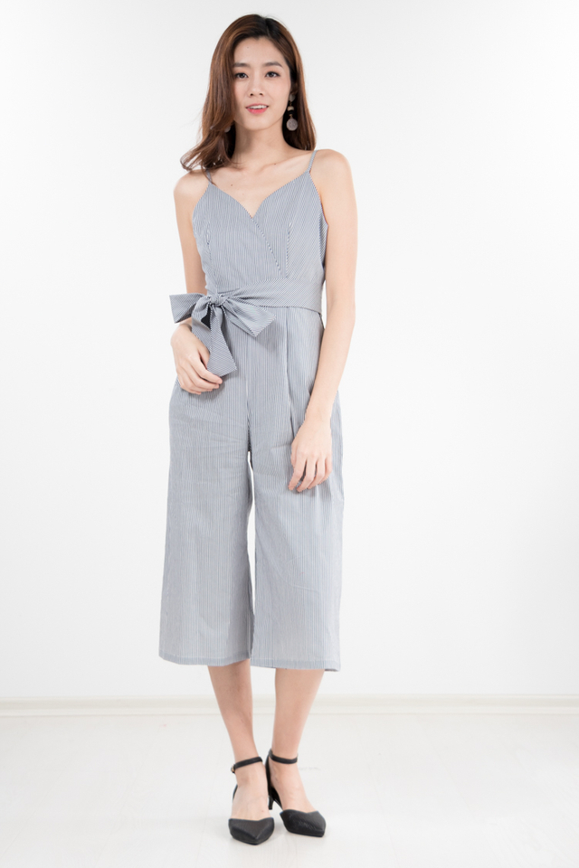 Caelan Striped Jumpsuit in Blue