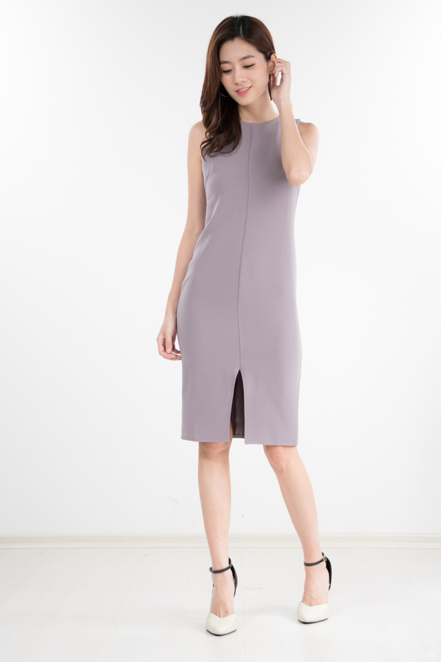 Lachina Midi Dress in Grey