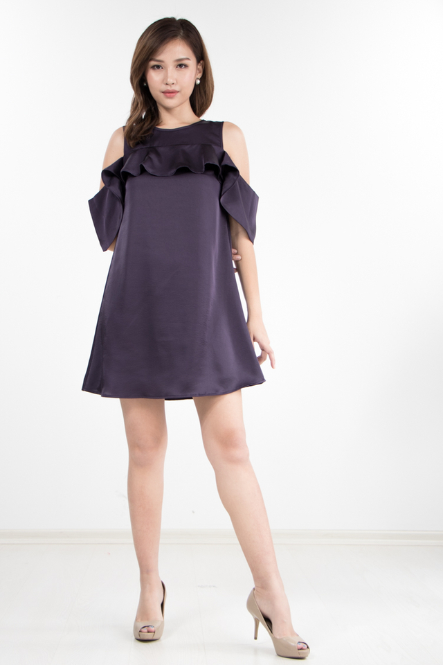 Barend Drop Shoulder Dress in Indigo