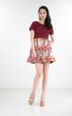 Bae Emboss Printed Dress
