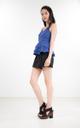 Sheena Peplum Top in Cobalt Blue