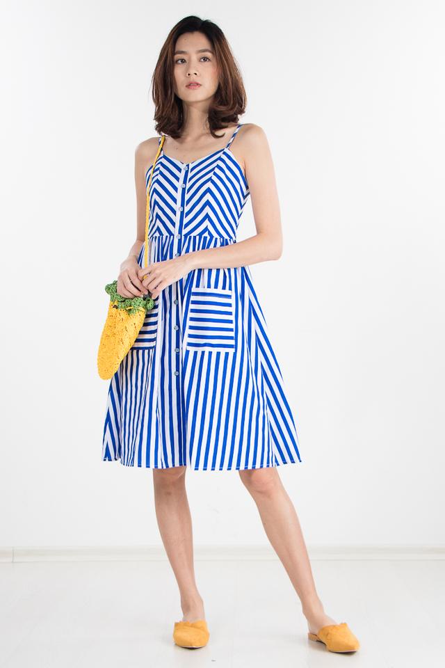Restocked Beatrice Striped Midi Dress