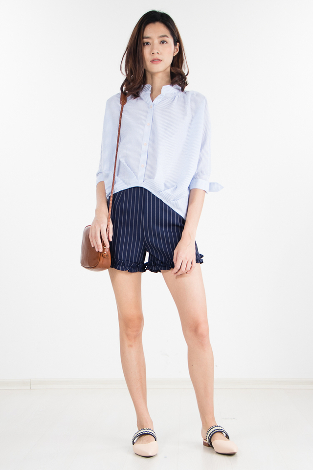 Restocked Lillie Striped Shirt in Sky Blue