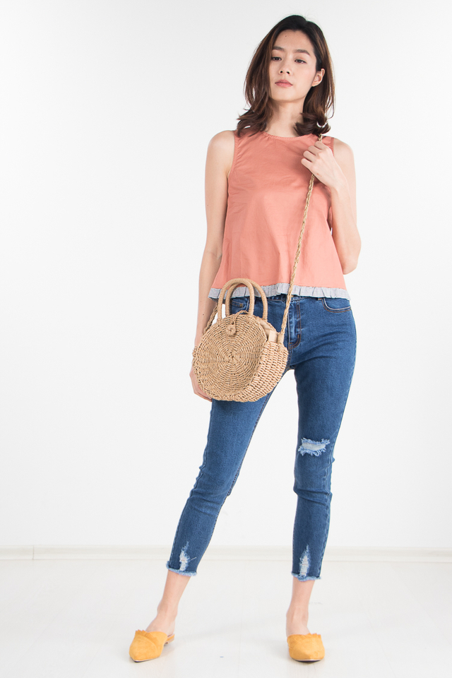 Ramona Top in Tangerine