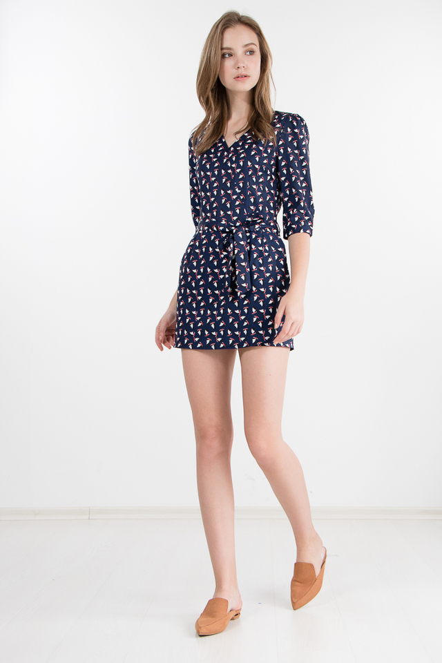 Rocco Yacht Printed Skorts Romper