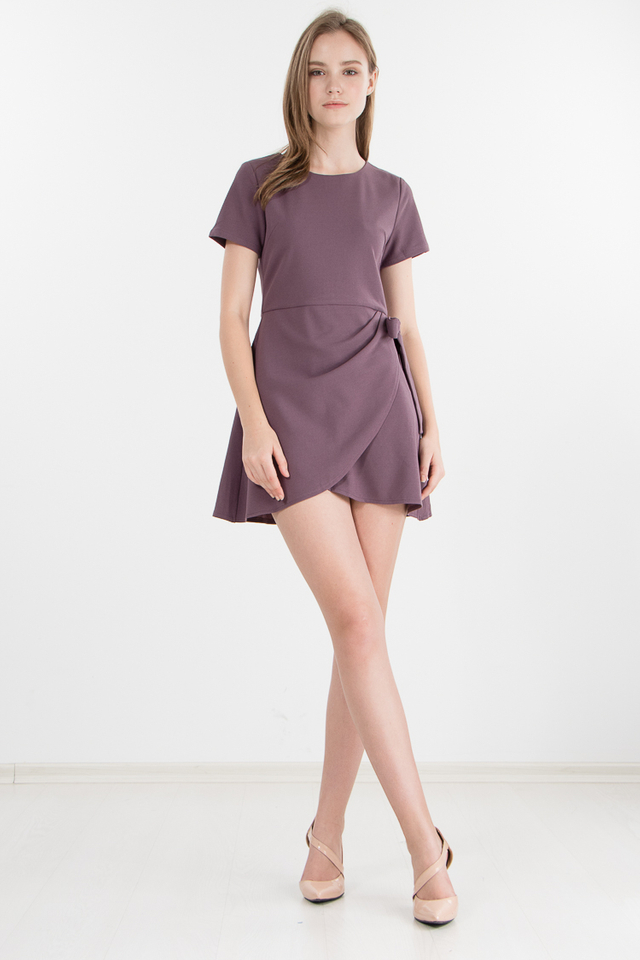 Restocked Carrey Dress in Plum
