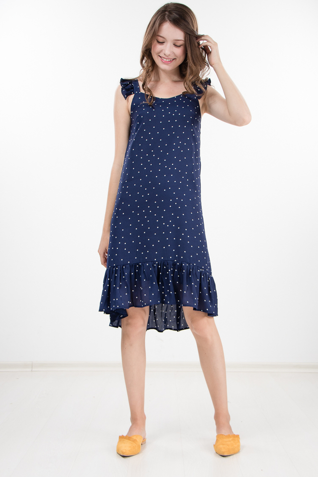 Marlize Polka Dot Ruffled Dress