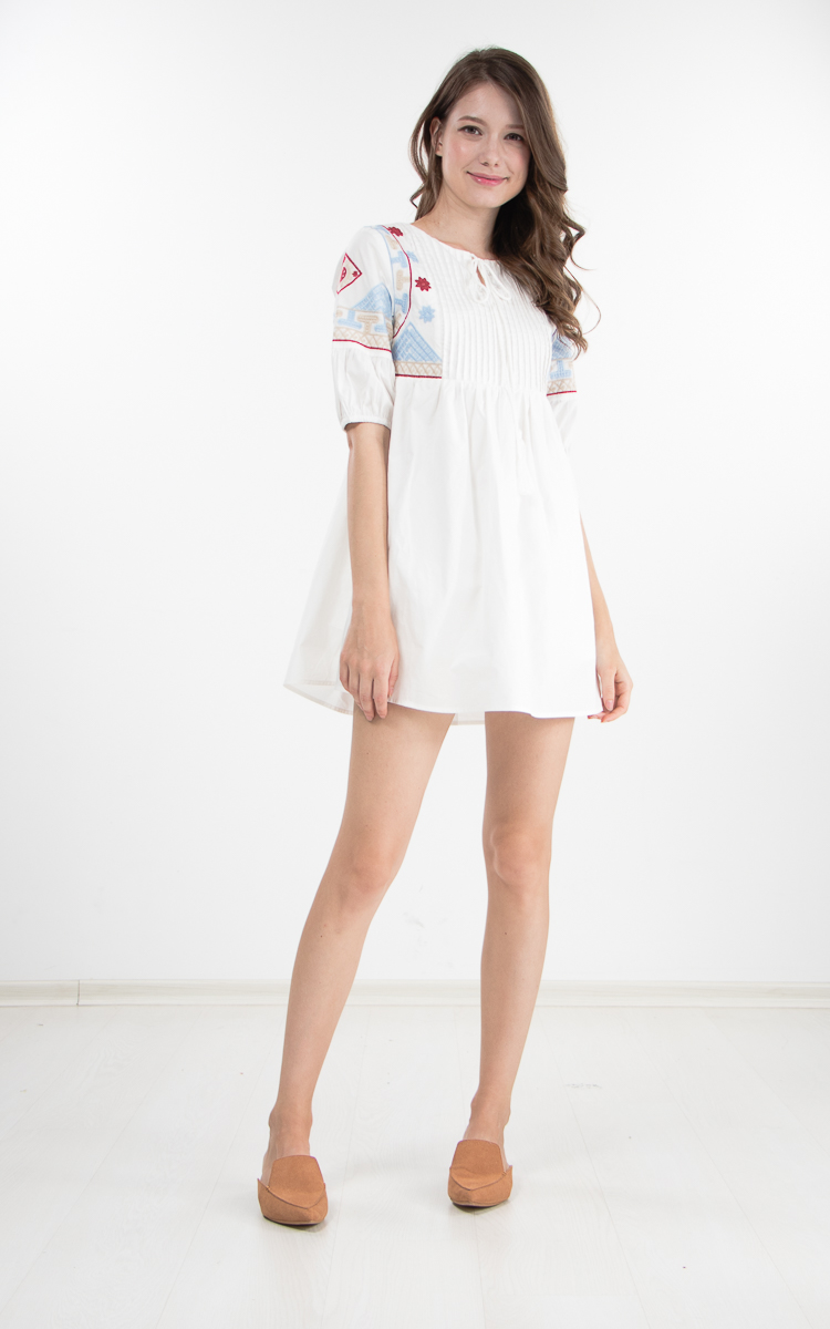 b2c2a23a2bbc Fawn Embroidered Romper