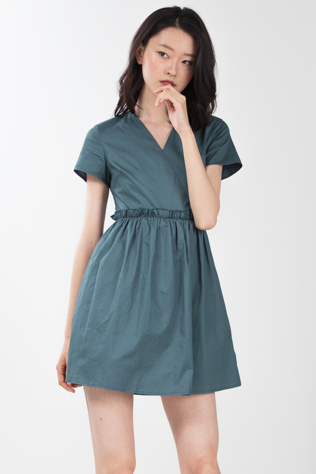 Estella Romper in Light Teal