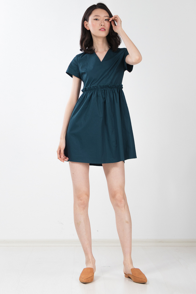 Reya Dress in Teal