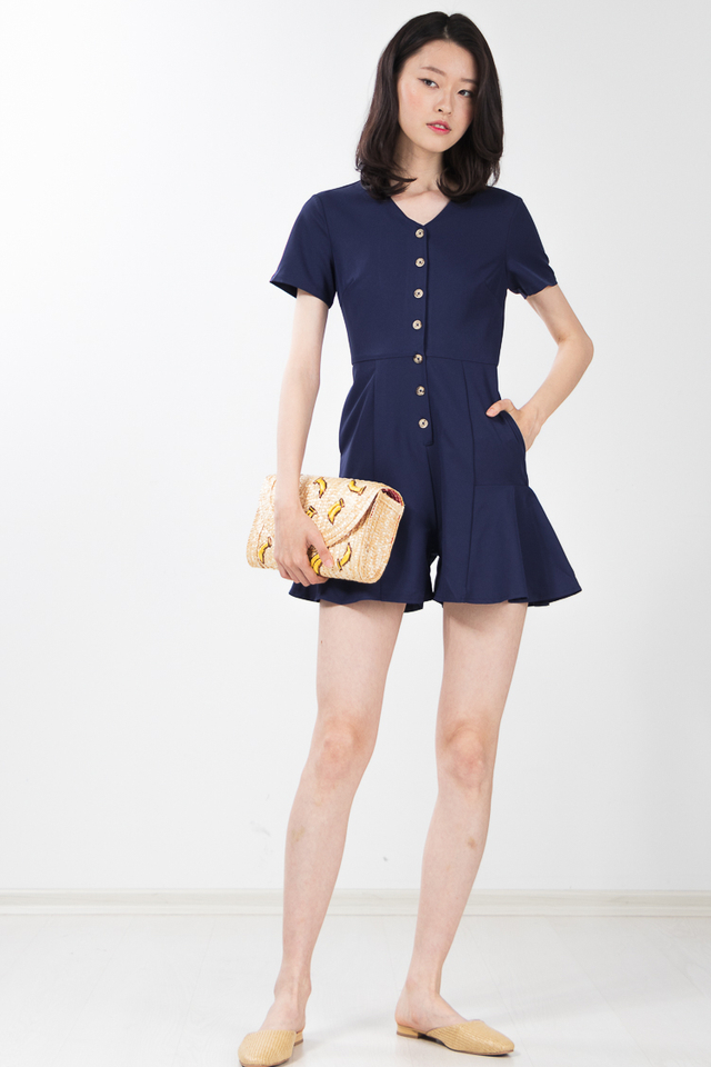 Habib Romper in Navy Blue