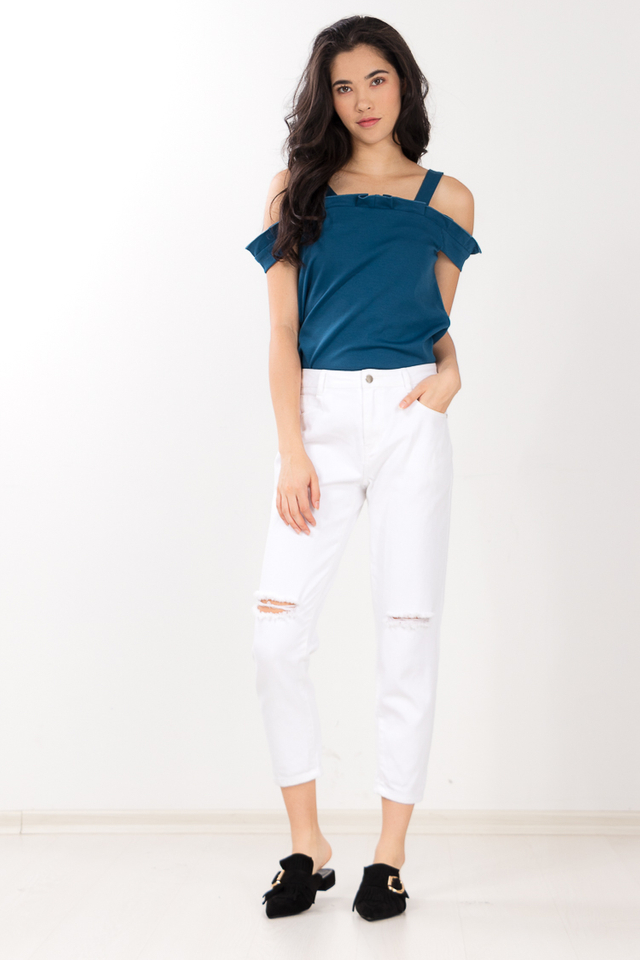 Wendy Drop Shoulder Top in Teal