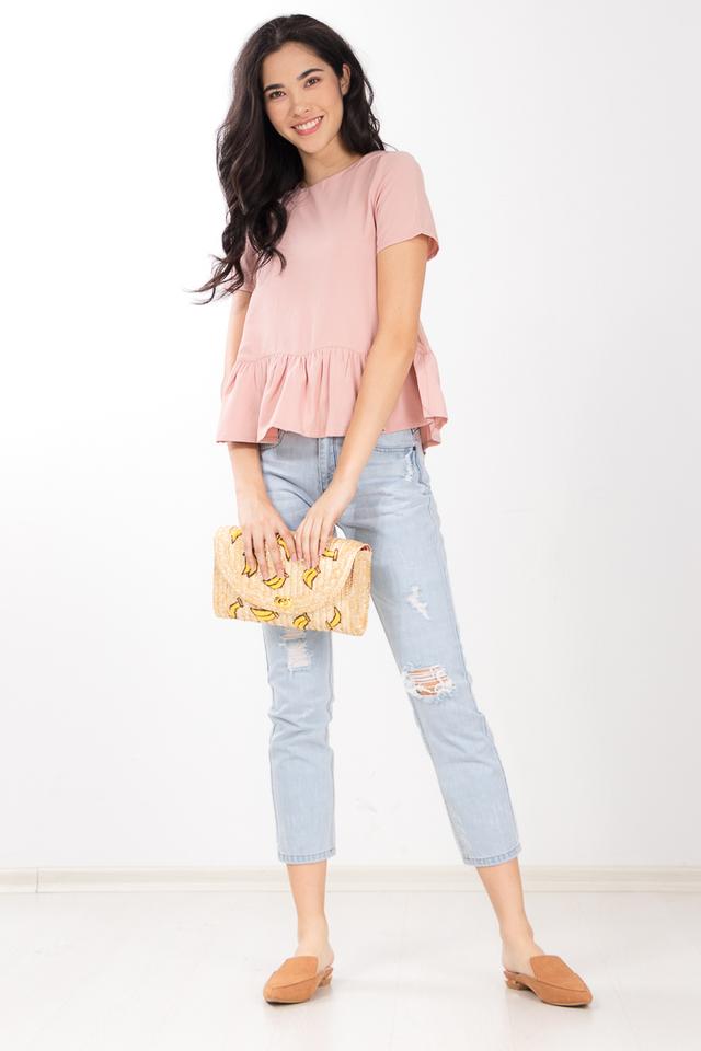 Gersemi Ruffled Top in Pink