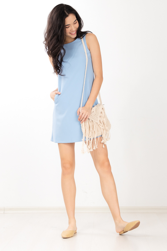 Lainey Dress in Sky Blue