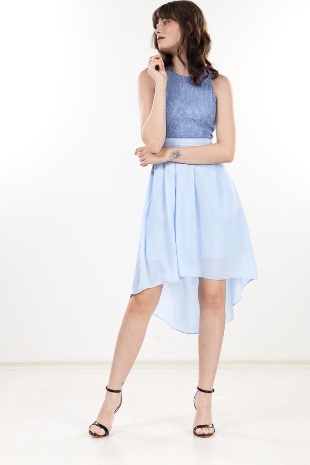 Femi Lace Dress in Sky Blue
