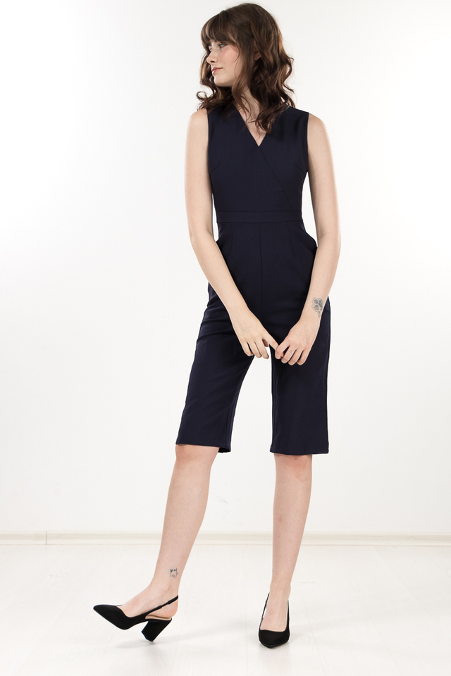 Micelia Jumpsuit in Navy Blue