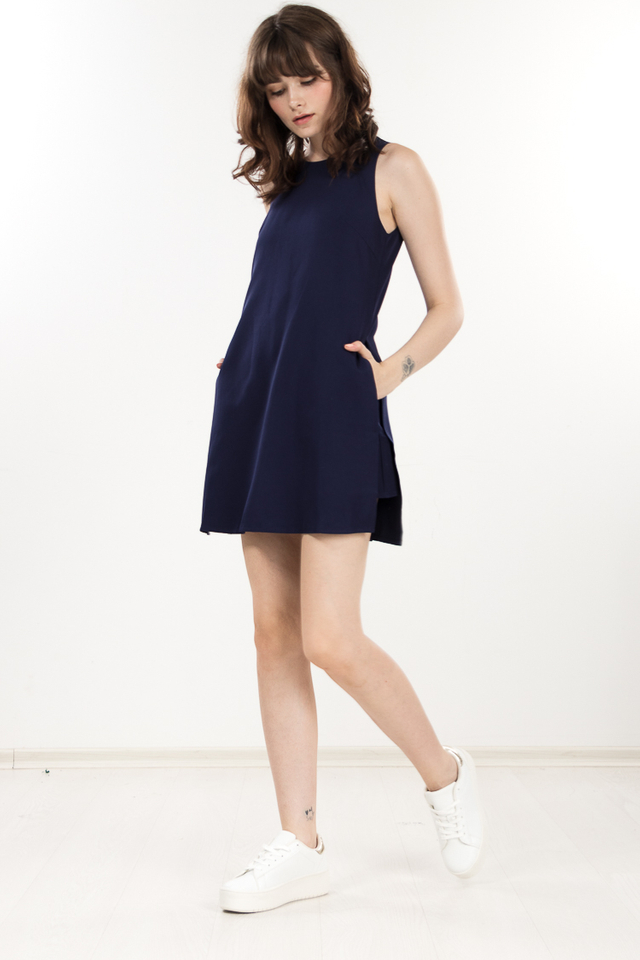 Restocked Mivy Romper in Navy Blue