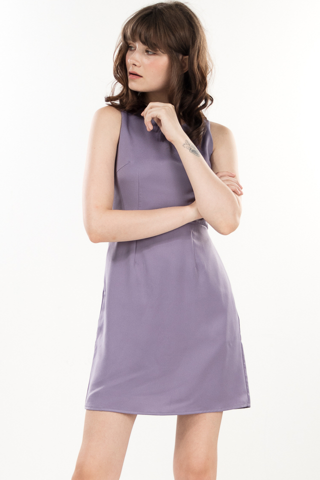 Neva Lace Dress in Lavender