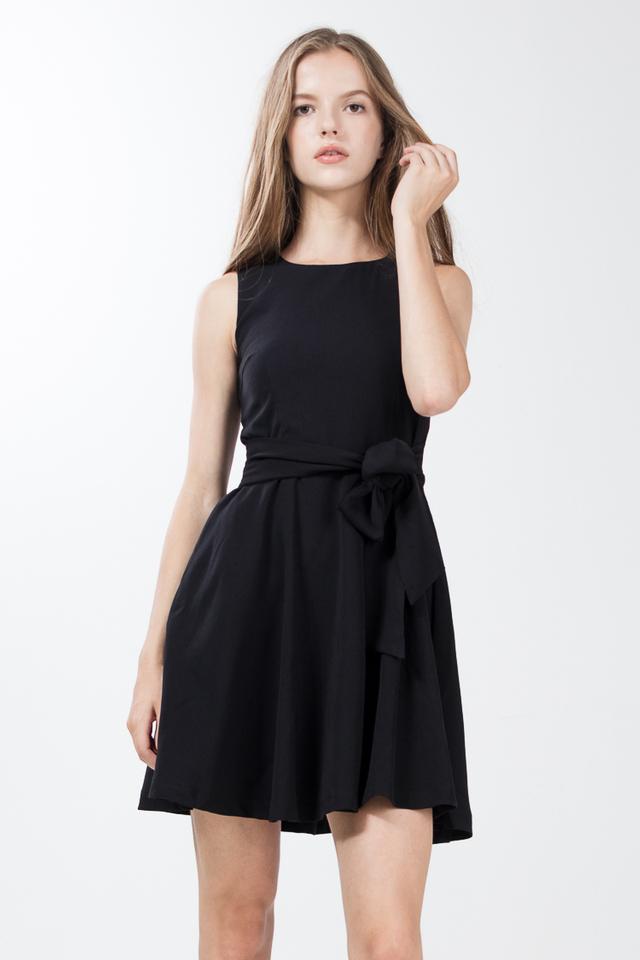 Soria Skater Dress in Black