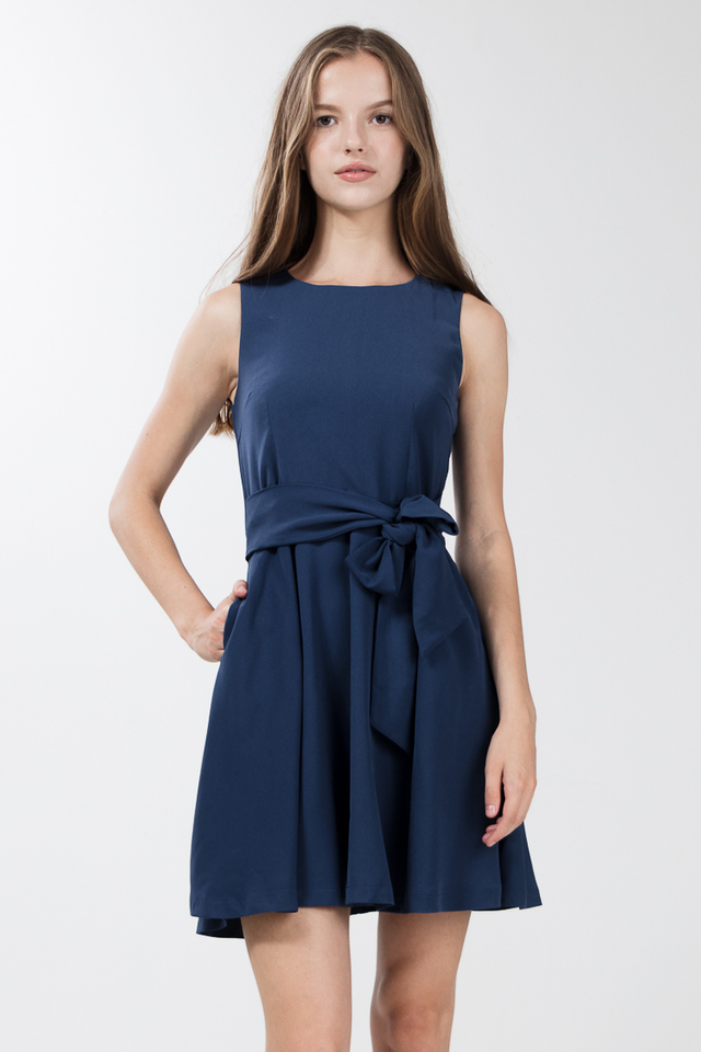 Soria Skater Dress in Yale Blue