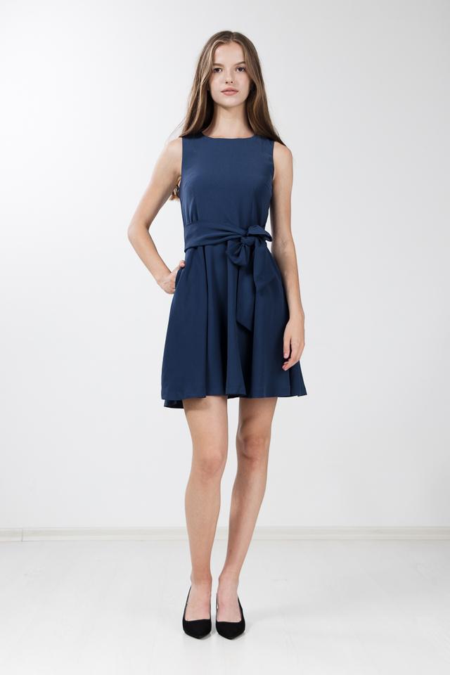 Soria Skater Dress in Yale Blue