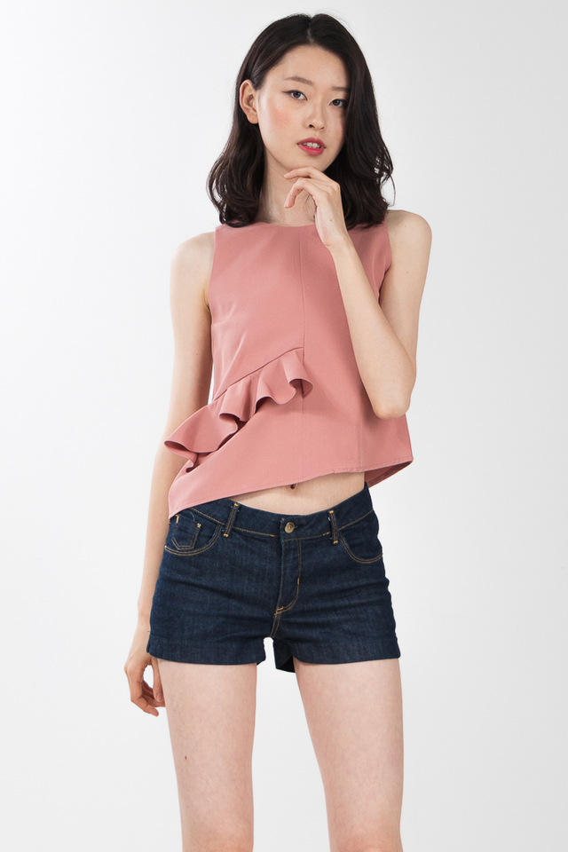 Unice Ruffle Top in Pink