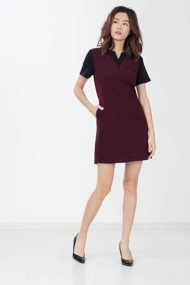 Arikki Knit Dress in Berry