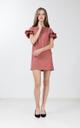 Etricia Ruffle Dress in Hazelnut