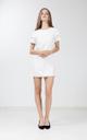 Etricia Ruffle Dress in White