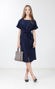 Lilja Shift Dress in Navy Blue