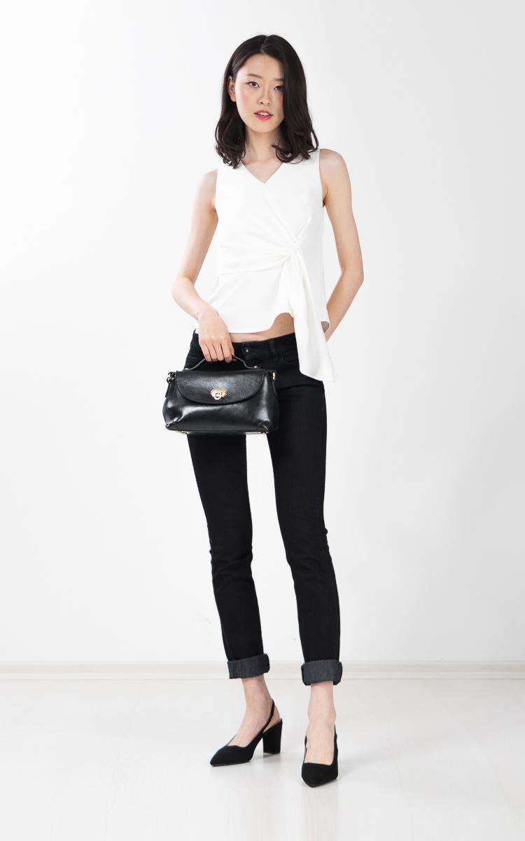 Tawney Drape Top in White