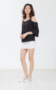 Peigi Drop Shoulder Top in Black