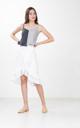 Hampton Pleated Midi Skirt in White