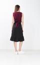 Hampton Pleated Midi Skirt in Black
