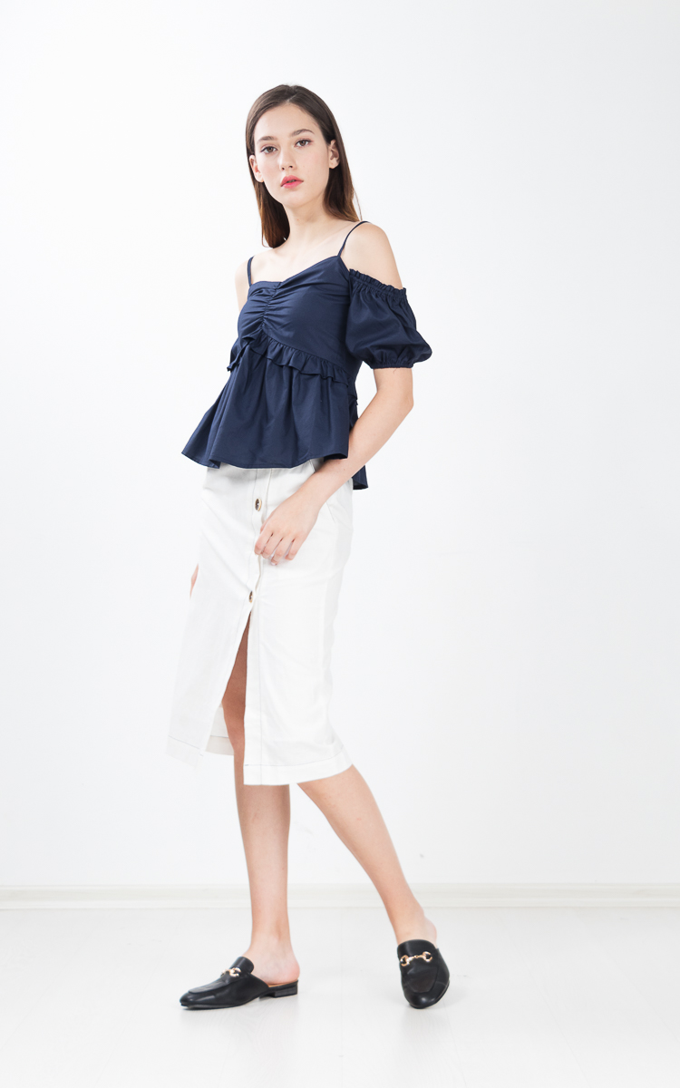 Dani Top in Navy Blue