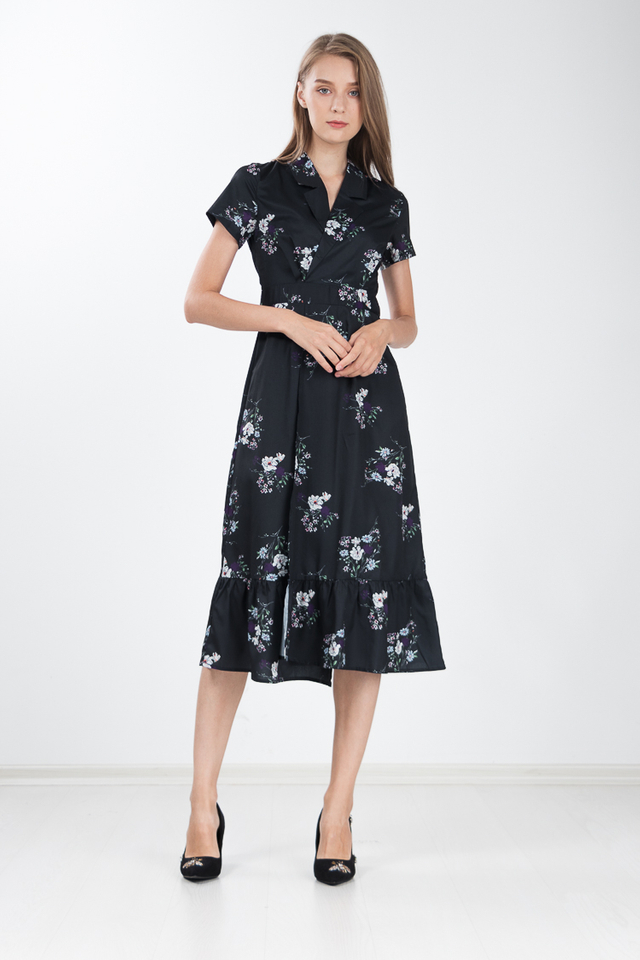Lisbon Trench Floral Shirt Dress