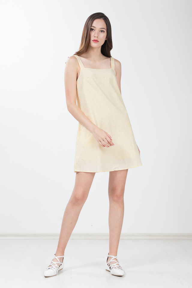 Shanae Swing Dress in Yellow