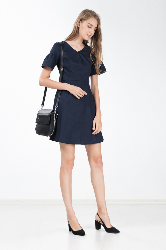 Sloane Dress in Navy Blue