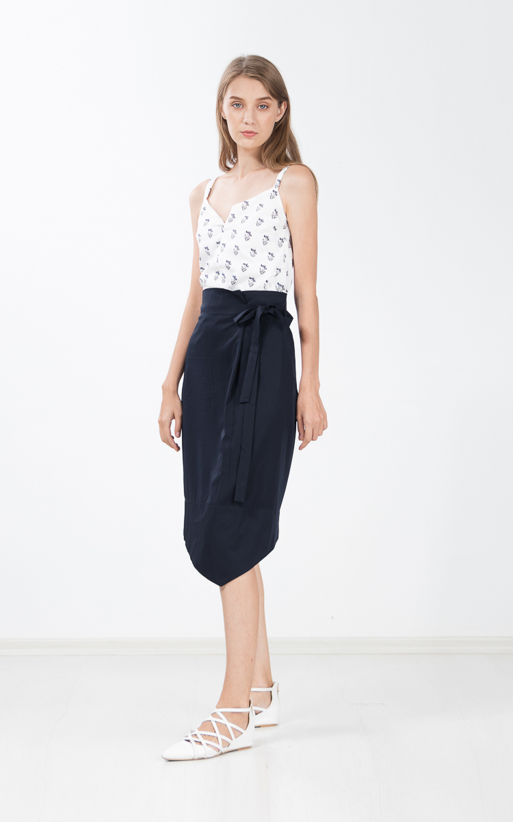 Gretelle Skirt in Navy Blue