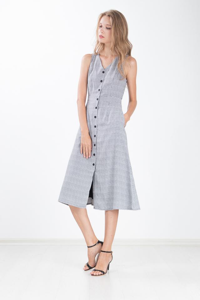 Rinna Gingham Midi Dress